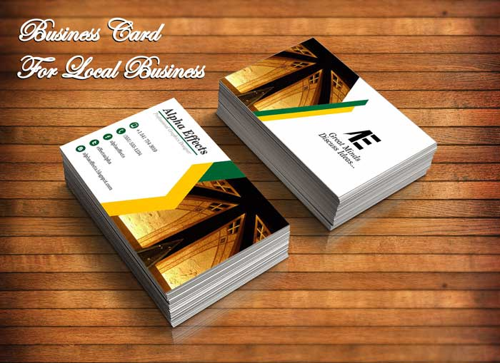 Business Card For Local Business Alpha Effects
