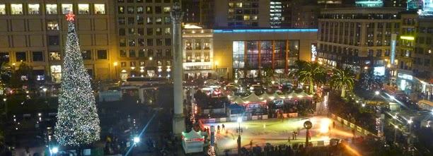 `: Union Square Tree Lighting in San Francisco