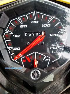 Pada kilometer ke 5723, oli berganti ke Shell Advance AX7 Scooter