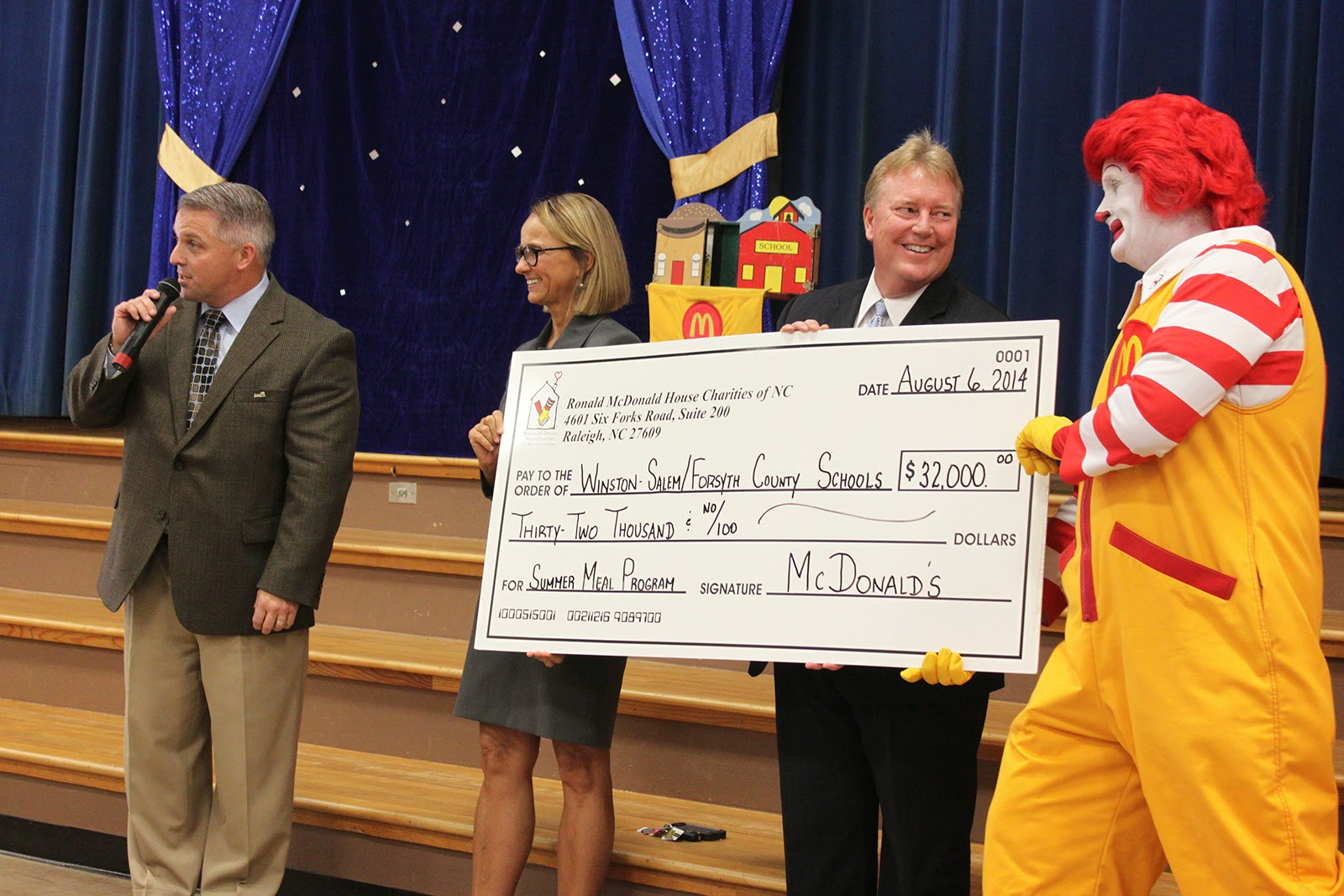Your Permanent Record Ronald Mcdonald Brings 32 000 Check To Pay