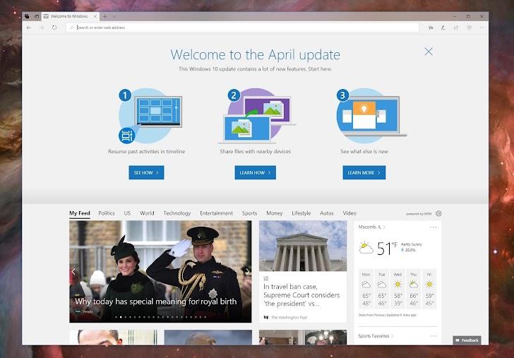 Resmi : Update Windows 10 April 2018 Update Telah Tersedia