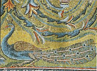 Pavão da Basílica de São CLemente, passeios em Roma com foco nos mosaicos medievais