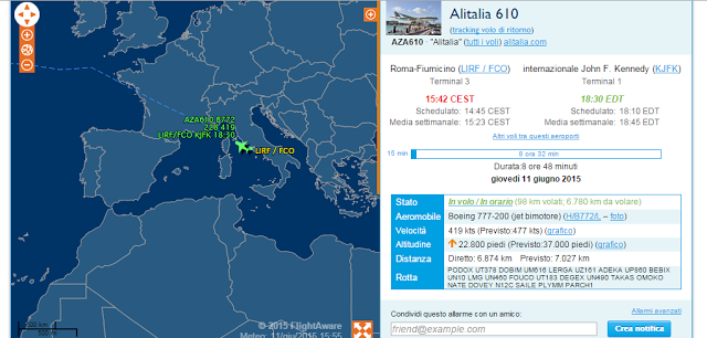 seguire aerei in tempo reale