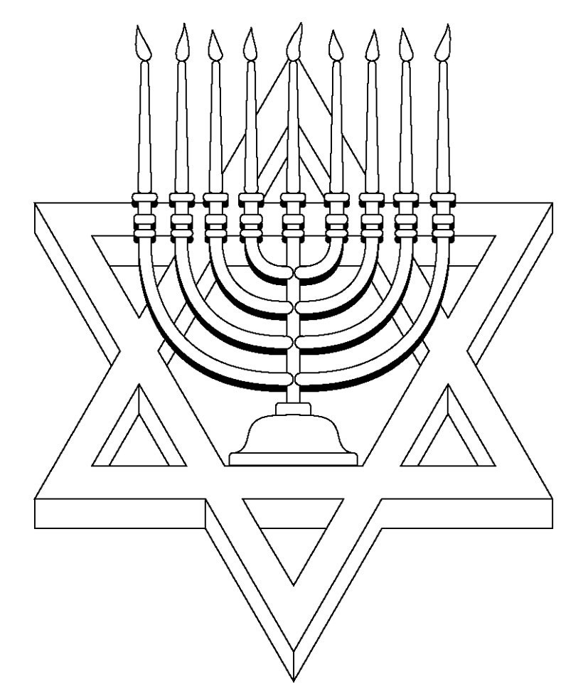 Best Of Menorah Coloring Pages for Preschoolers | Top Free ...