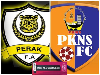 Live Streaming Perak vs PKNS FC Piala FA Malaysia 21 April 2018