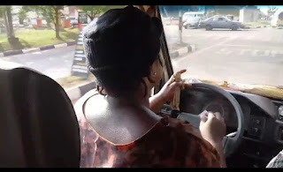 Female Taxi Driver Spotted In Enough, Nigeria