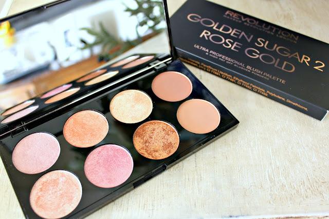 makeup revolution haul ultra palette golden sugar 2 rose. Black Bedroom Furniture Sets. Home Design Ideas