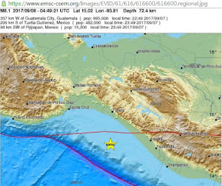8.1 earthquake strikes near Mexico's Pacific coast