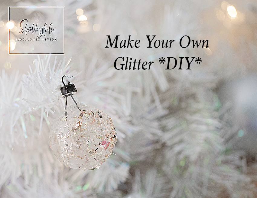 How To Make Your Own Vintage German Glass Glitter | Shabbyfufu