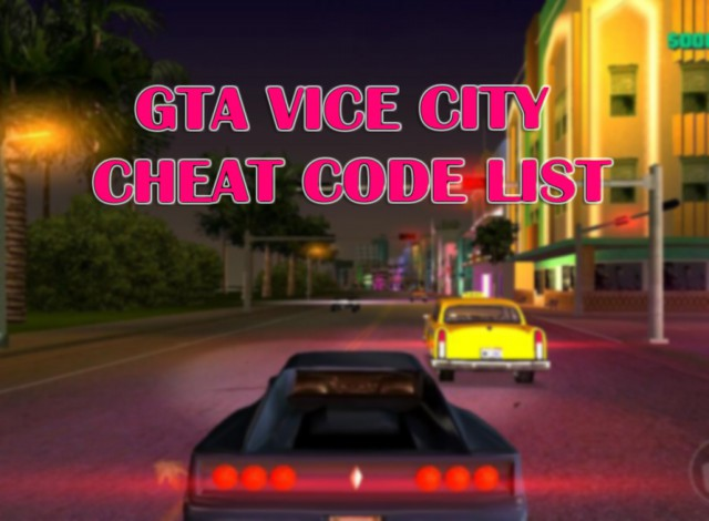 Gta Vice City Cheat Codes List Pdf