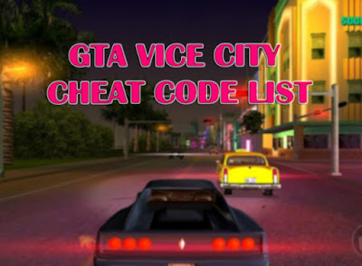 GTA Vice City Cheats Code List