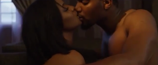 Omotola and man get steamy in the bedroom