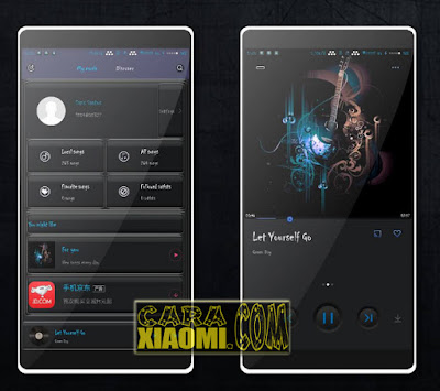 Download Link Theme MIUI Black Blues Mtz Theme For Xiaomi Terbaru