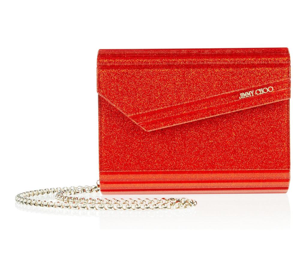 58ac6f5a187cc JIMMY CHOO CANDY TANGERINE GLITTER ACRYLIC CLUTCH BAG - Reed Fashion ...