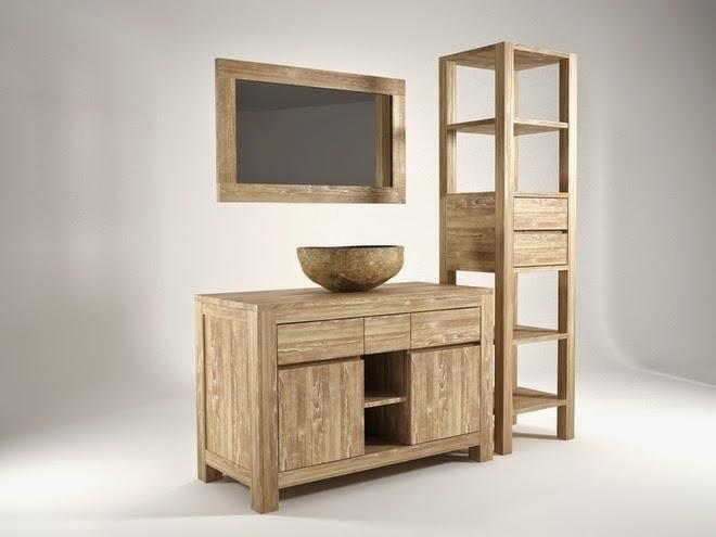 Meuble salle de bain bois pas cher table de lit - Mobilier de salle de bain pas cher ...