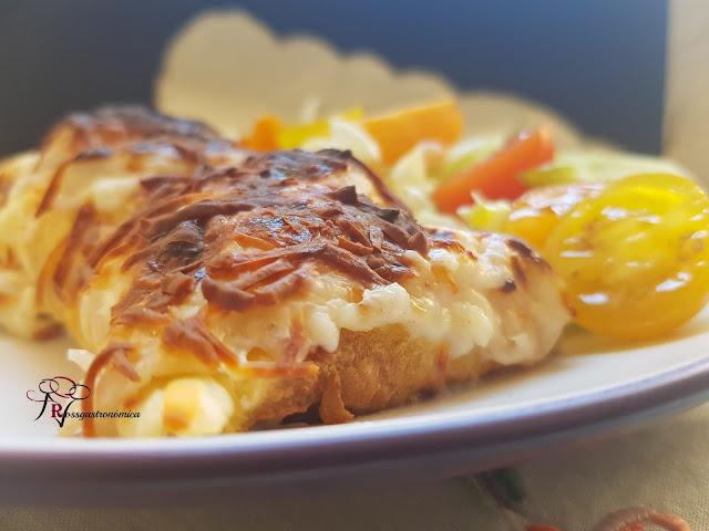 Tortilla rellena de bechamel