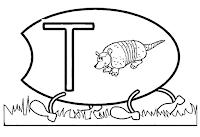 Alfabeto centopeia letra T