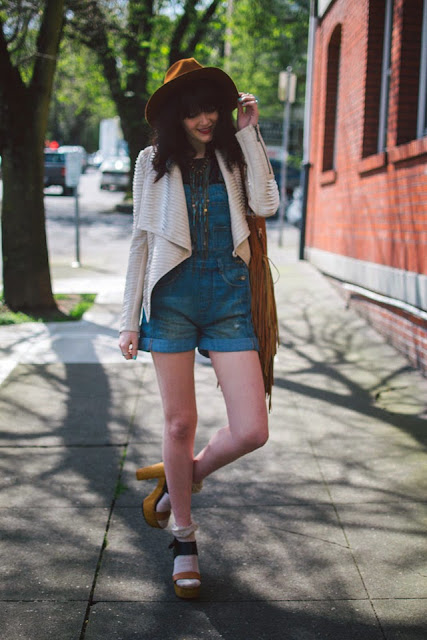 Shy Girl Loud Voice wearing Overalls in Disastrous - imyne fashion how to wear overalls - overall outfit inspiration