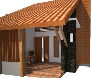 Model Skethup 3D Teras Rumah