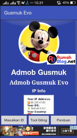Tools Gusmuk Evo - Download Gratis Tools Admob Auto Impression 2018