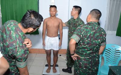 149 Orang Pemuda Bersaing di Makorem 141/Tp untuk Jadi Bintara TNI AD