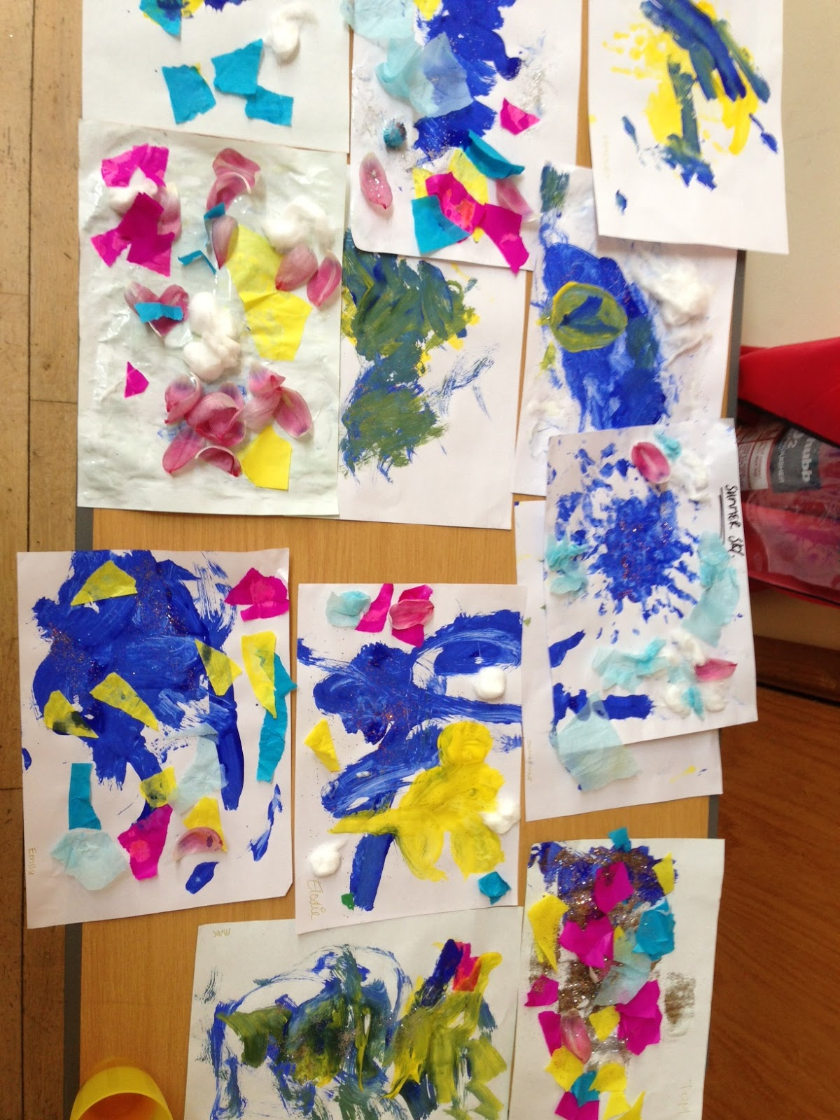 toddler arts and crafts may summer skies. Black Bedroom Furniture Sets. Home Design Ideas