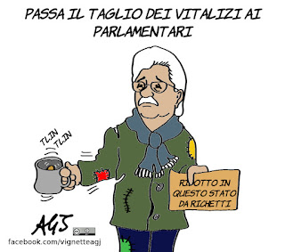 casta, legge richetti, parlamentari, vitalizi, antonio razzi, vignetta, satira