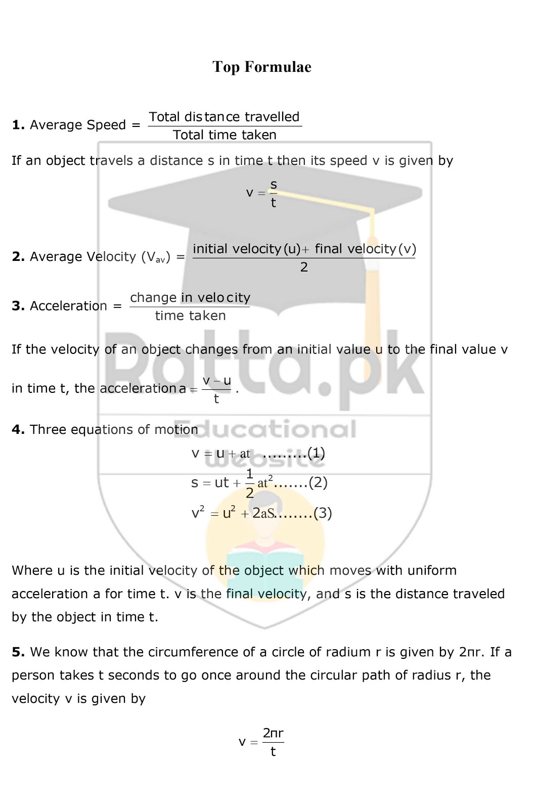 9th Physics Chapter 1 Motion Notes 4
