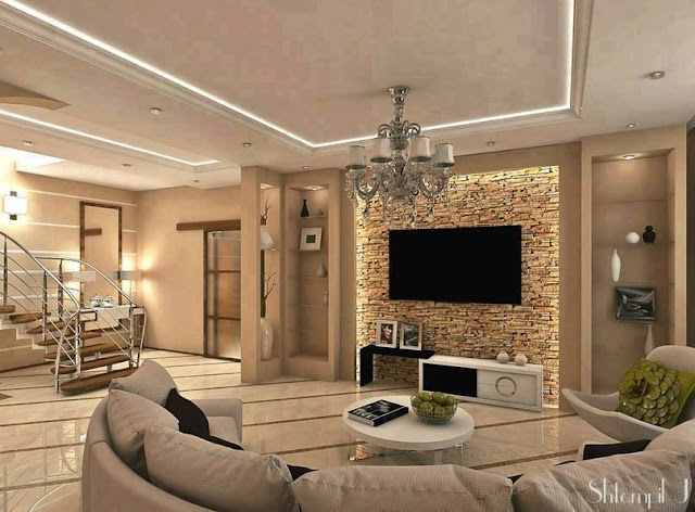 A Light and Spacious living room with a Warm Interior in Kiev
