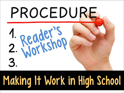 You can do reader's workshop in high school AND build skills for literary analysis