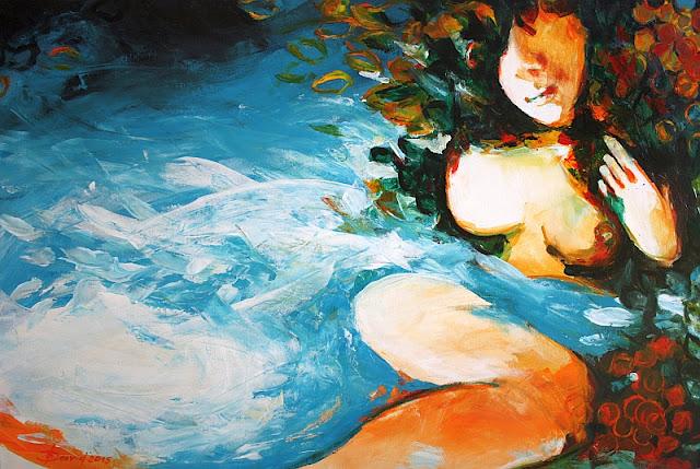 Sommerträume Gemälde von Olga David Acryl auf Leinwand