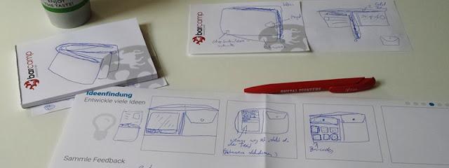 Blätter auf Schreibtisch, Notizen