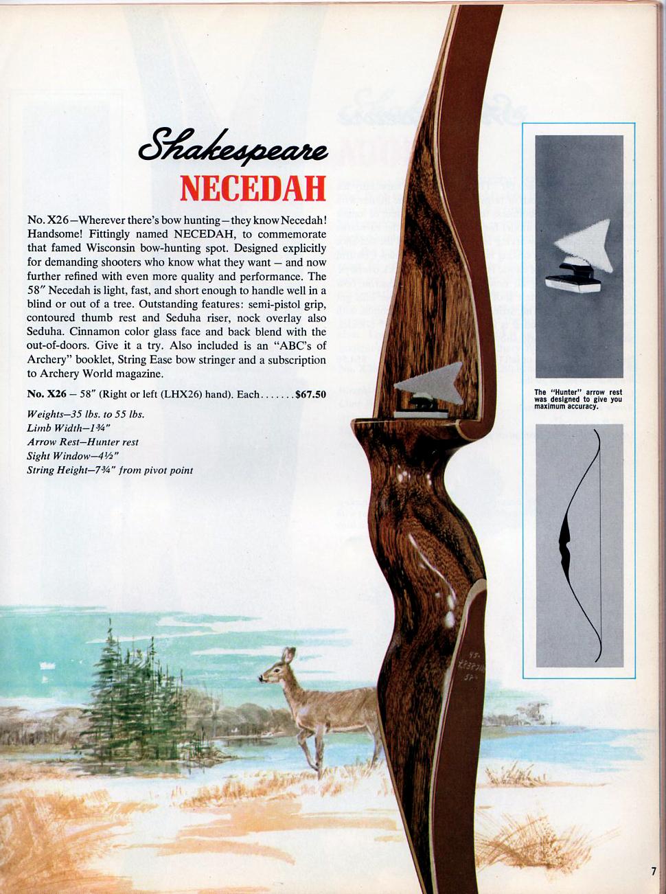 Vintage Shakespeare Root Archery The Necedah