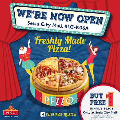 Pezzo Pizza Buy 1 Free 1 Opening Promo