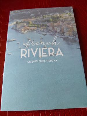 petit livret French Riviera Birchbox