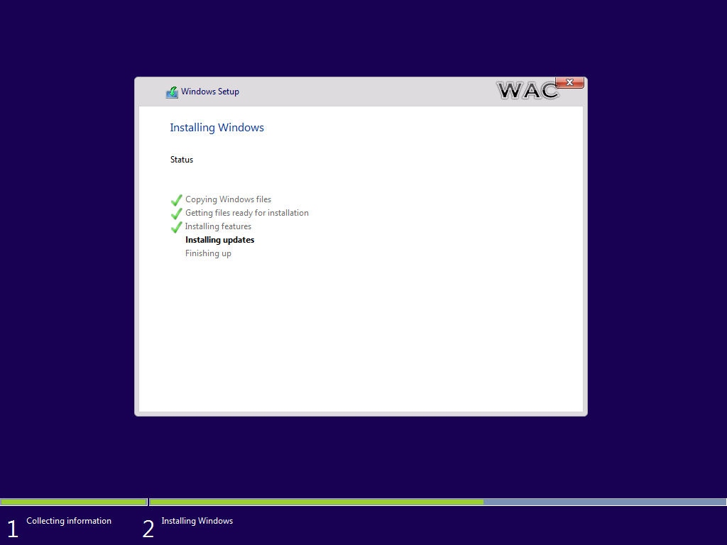 Windows admin center how to perform a clean installation for Installing windows