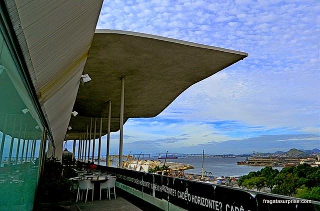 A Praça Mauá vista do terraço do  MAR - Museu de Arte do Rio