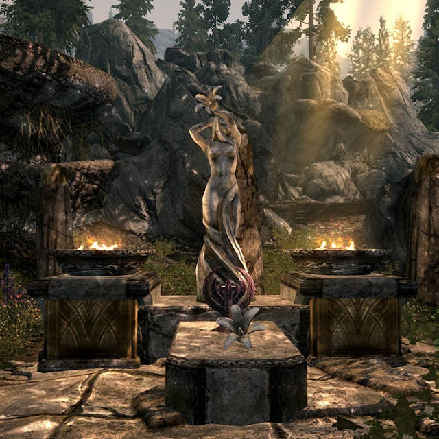 Skyrim Dibella Statue Wallpaper Engine