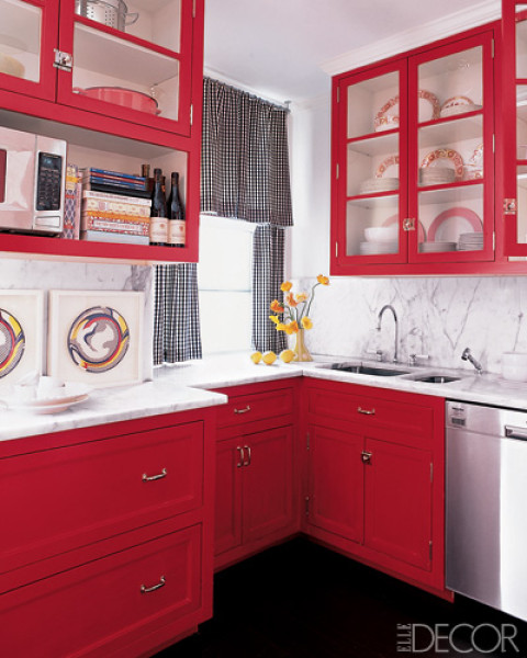 Decoracion De Cocinas En Color Rojo Kansei Cocinas Servicio - Cocinas-color-rojo