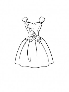 Dresses drawings to color