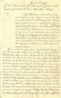 Page One of Letter from David Dunbar to British Admiralty, April 30, 1742
