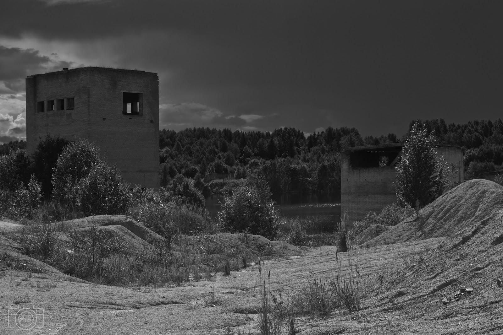 Prison de Rummu, noir & blanc