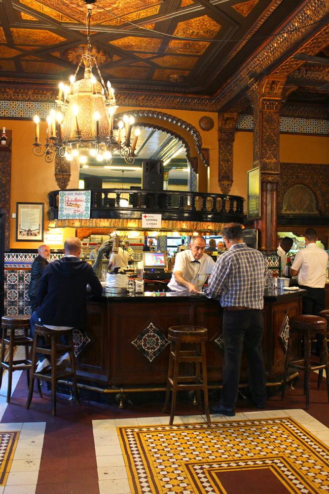 Café Iruña in Bilbao, Spain - UK travel blog