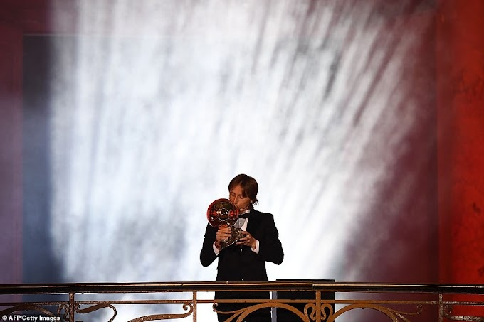 Ballon d'Or 1sts: Modric wins, Hegerberg takes women's award
