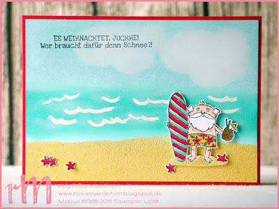 Stampin' Up! rosa Mädchen Kulmbach: Stamp Impressions Blog Hop: Christmas in August: Weihnachtskarte mit Heiter bis weihnachtlich