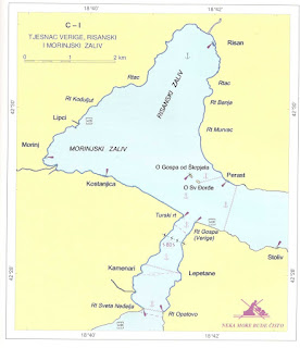 Sidrišta u tjesnacu Verige i risanskom zalivu