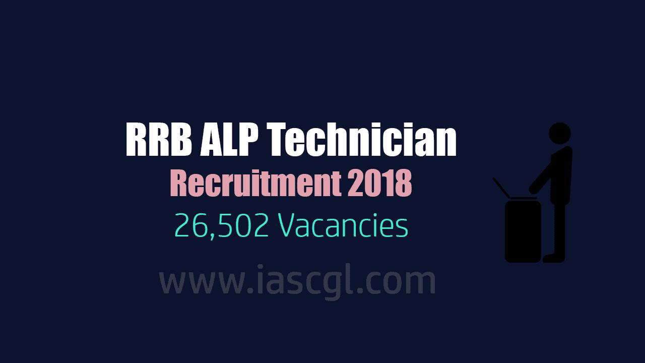 RRB ALP Technician Recruitment 2018