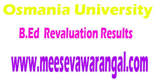 Osmania University B.Ed March 2016 Revaluation Results