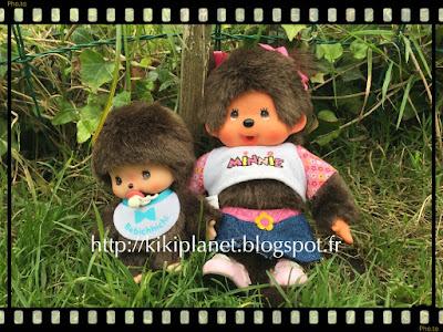 kiki monchhichi photo appareil toys life doll plush poupée