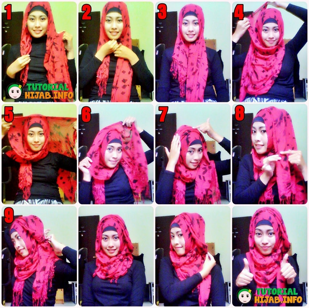 87 Gambar Lengkap Tutorial Hijab Pashmina Licin Simple Bisa